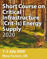 Short Course on Critical Infrastructure (Crit-Is) Energy Supply 2020