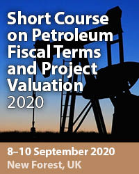 Short Course on Petroleum Fiscal Terms and Project Valuation