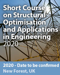 Short Course on Structural Optimisation and Applications in Engineering 2020